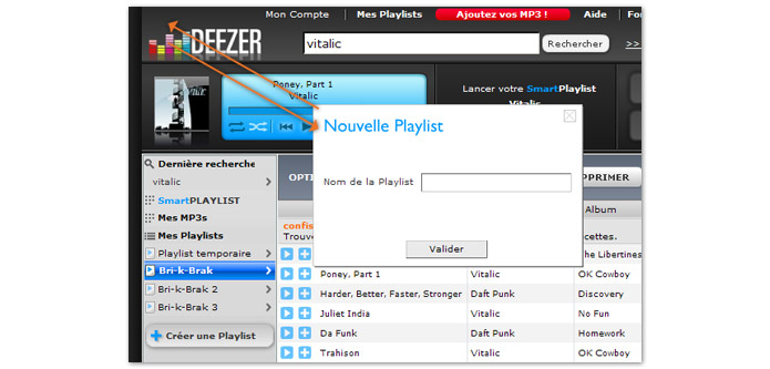 Deezer playlists