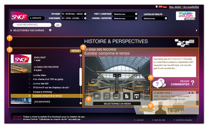 sncf page type