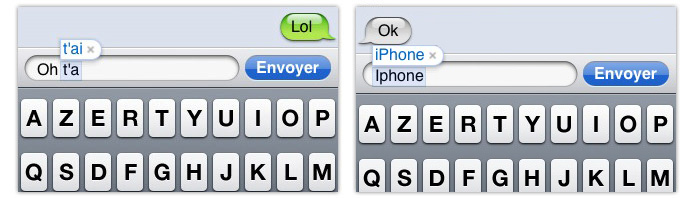 iphone texte