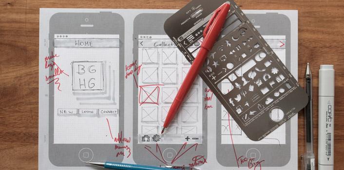 modele wireframe iphone