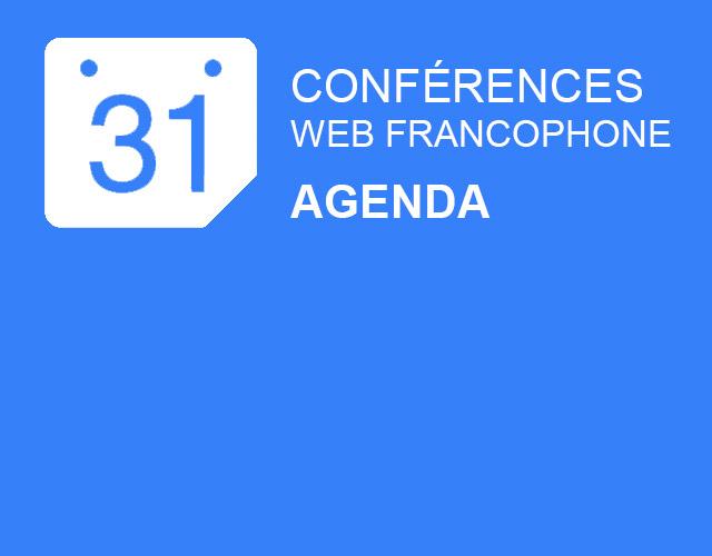 agenda conference web francophone